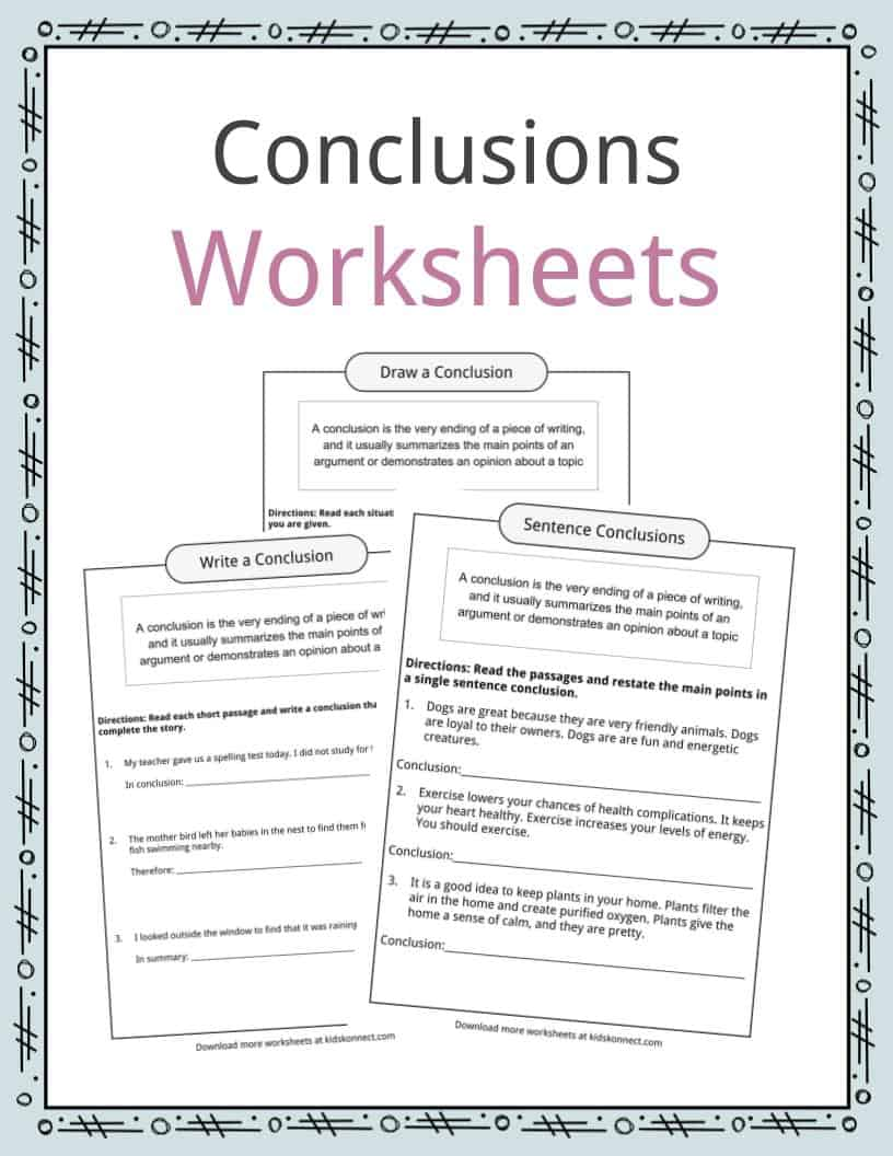 medium resolution of Conclusion Worksheets