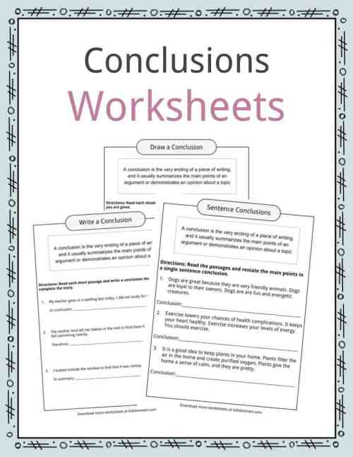 small resolution of Conclusion Worksheets