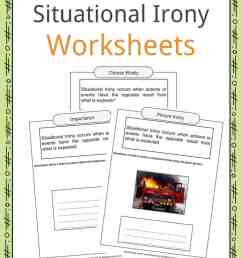 Situational Irony Worksheets [ 1056 x 816 Pixel ]