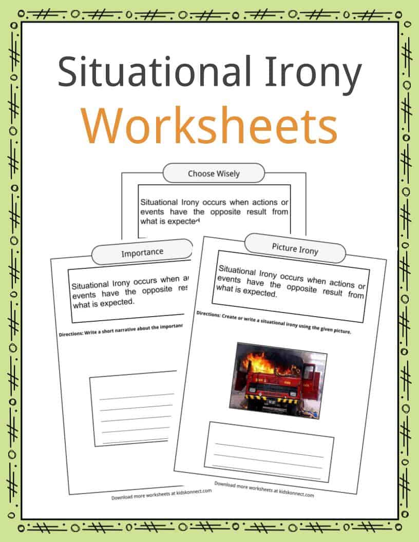 hight resolution of Situational Irony Worksheets