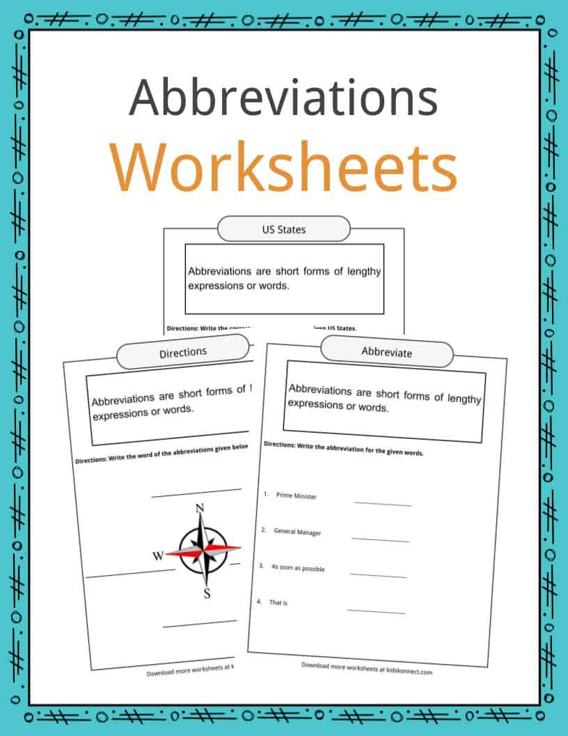 hight resolution of Abbreviations Worksheets