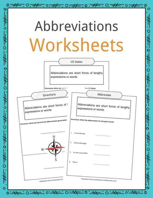 small resolution of Abbreviations Worksheets