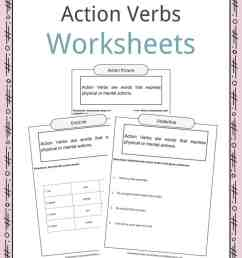 Action Verbs Worksheets [ 1056 x 816 Pixel ]
