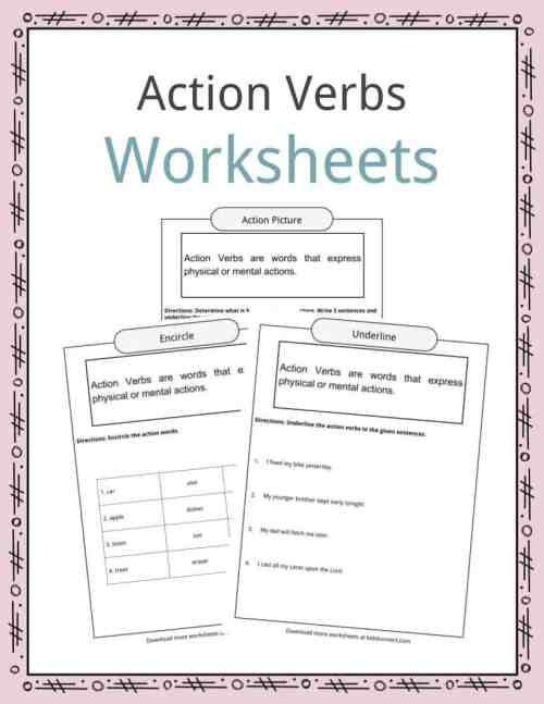 small resolution of Action Verbs Worksheets