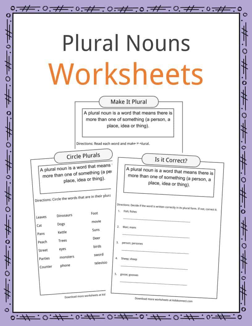 hight resolution of Plural Nouns Facts