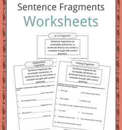 Sentence Fragments Worksheets [ 1056 x 816 Pixel ]