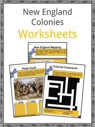 New England Colonies Facts Worksheets Government Economy For Kids
