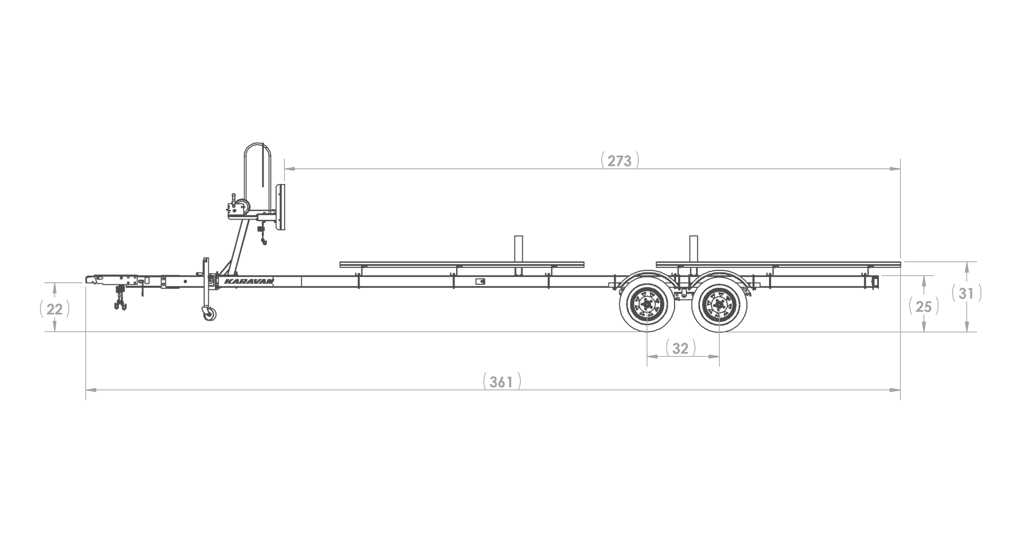 Tandem Axle Large Pontoon Trailer