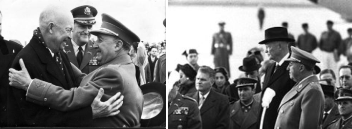 933x343 Eisenhower Franco at Torrejon 1959