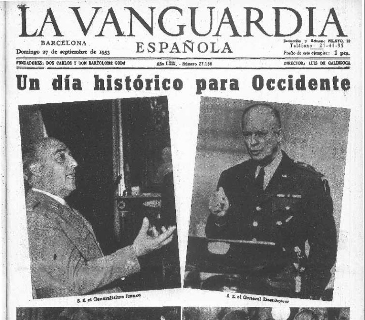 La Vanguardia newspaper 1953
