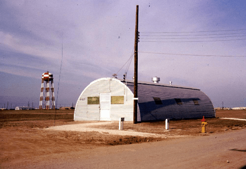 500px Quonset hut. Half was Pass ID office, half OSI Jan 1959