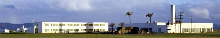 BOQ on left, officers club on right early '59