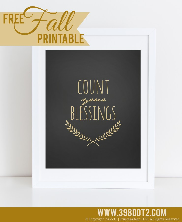 Count Your Blessings Fall Printable