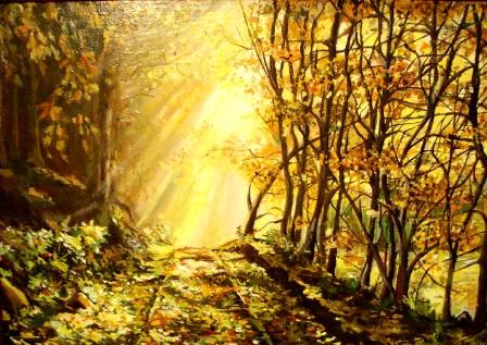 Осеннее солнце. Работа Ольги Пылаевой