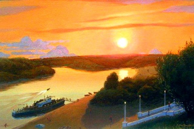 Река Дон в Павловске.Работа Виктора Батищева