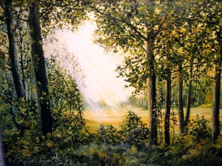 Утро в лесу. Работа Анатолия Резчикова