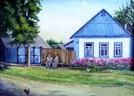 Родительский дом. Работа Ольги Пылаевой