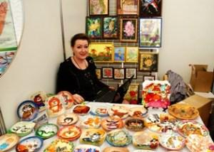 Ирина Куприянова со своими работами