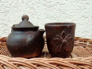 керамическая посуда,чайник,чашка