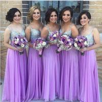 Purple Bridesmaid Dress, Sequin Bridesmaid Dresses, Long ...