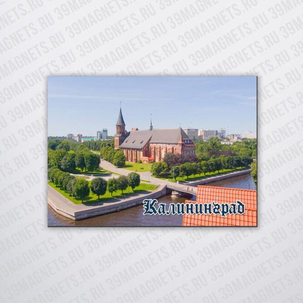 Магнит виниловый с изображением вида Калининграда