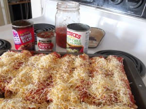 Beef Mexican Enchiladas with recipe