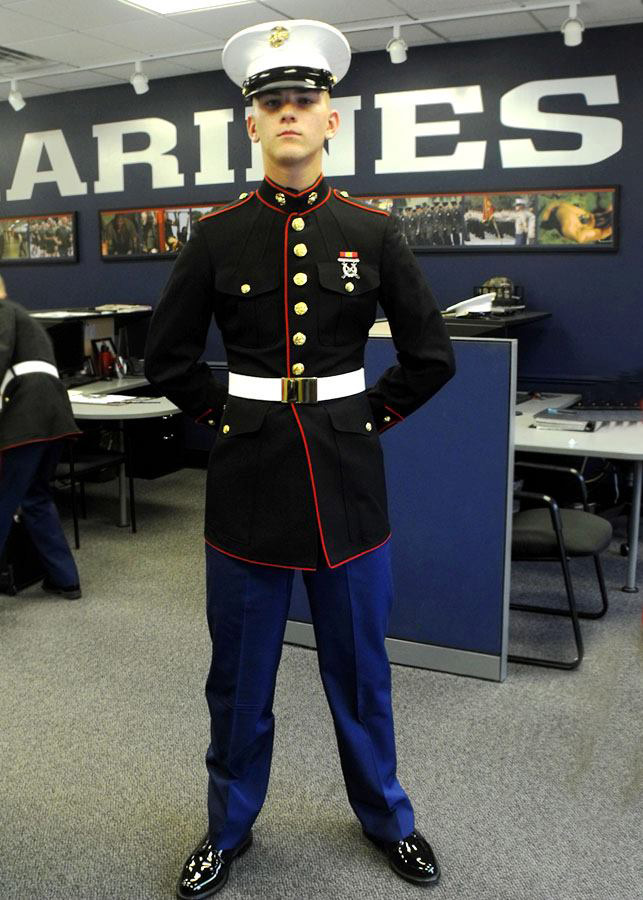 marine corps dress blues 3 quarters today