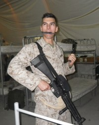 US Marine overseas heading to Afghanistan