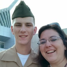 Marine Mom and son
