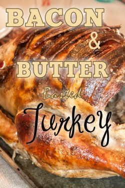 How to make a bacon and butter basted turkey for thanksgiving