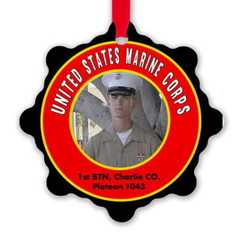 Marine Boot Camp Graduation Ornament, 1st Battalion, Alpha, Bravo, Charlie, & Delta Company