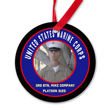 Boot Camp USMC Graduation Ornament, 3rd BTN India, Kilo, Lima, & Mike Company