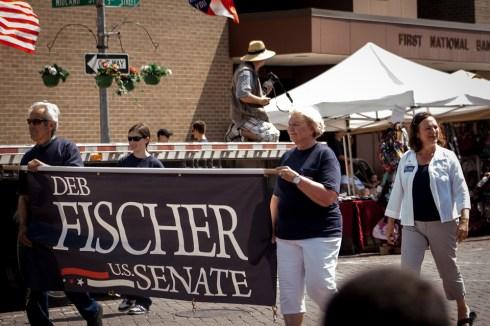 Senate Candidate Deb Fischer in a Nebraska parade
