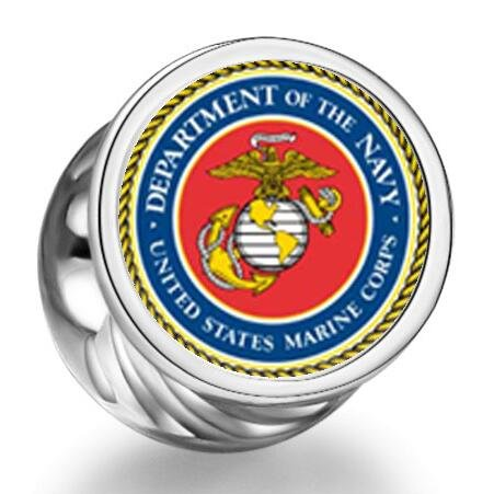 Loyallove Character Marine Corps Cylindrical Photo Charm Beads Bracelets