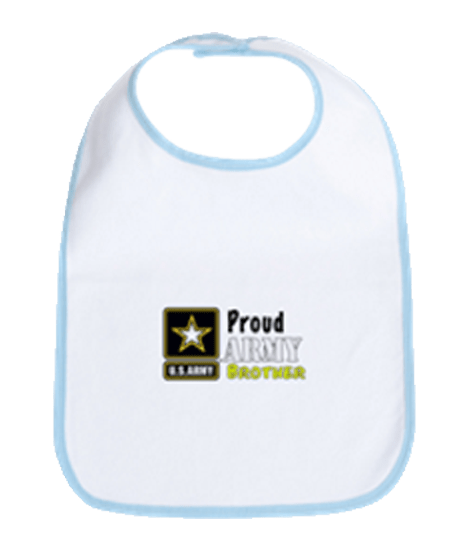 Proud Army Brother bib for infants