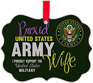 Proud Army Wife Christmas ornament