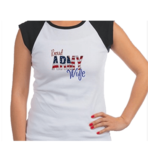 Proud Army Wife shirts and apparel