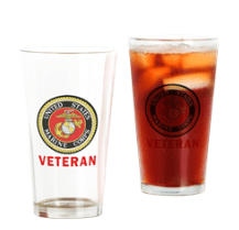 Marine Corps Veteran drinking glass