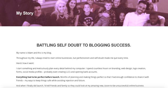 How to start a blog -- About Page