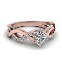 Infinity Pear Shaped Diamond Engagement Ring With Pink ...