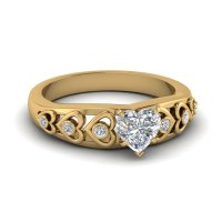 Heart Design Diamond Accent Ring | Fascinating Diamonds