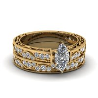 Antique Wedding Ring Set | Fascinating Diamonds