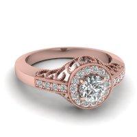 Buy Affordable Vintage Rose Gold Engagement Rings Online ...