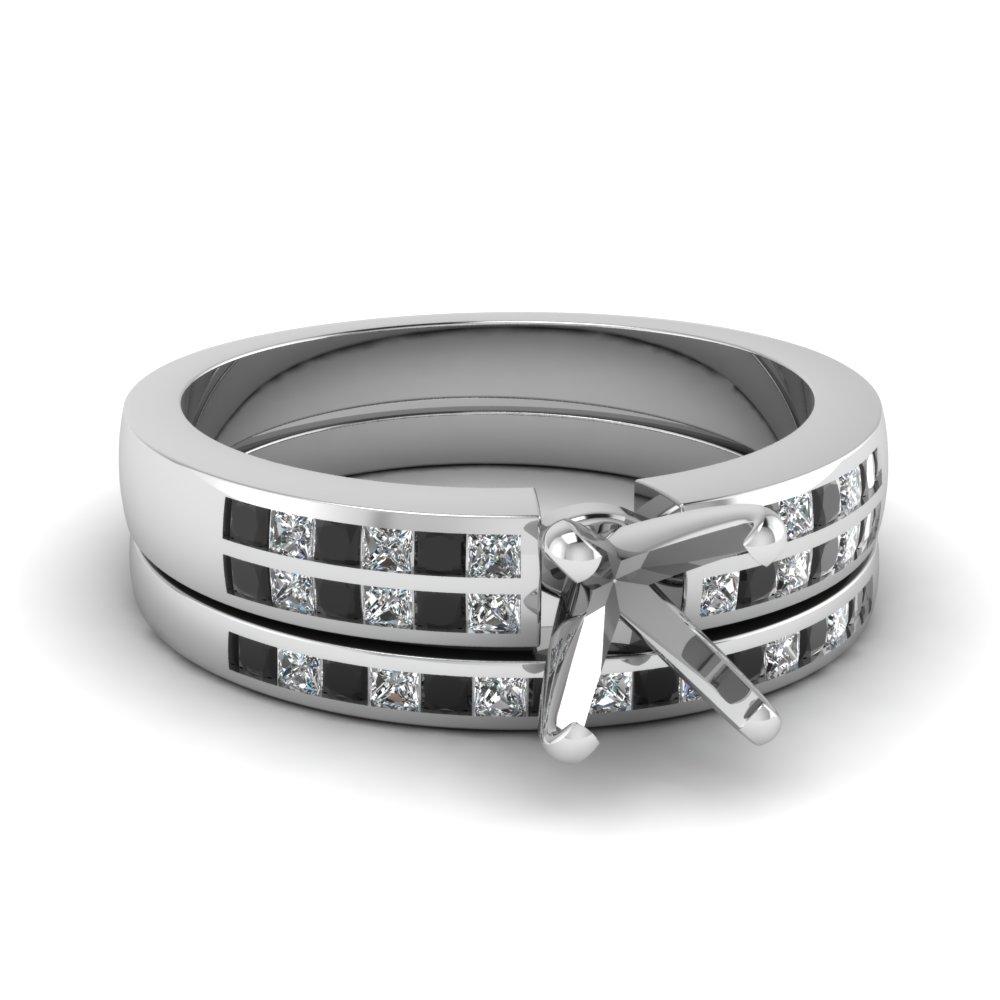 Black Diamond Wedding Sets Engagement Rings