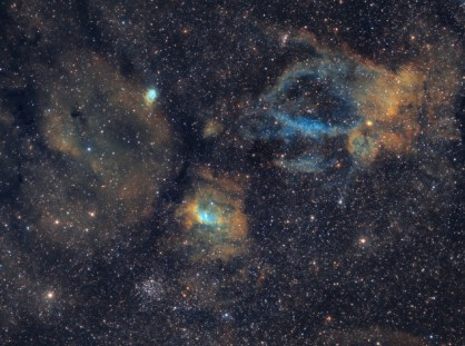 2013__Nathan Brandt__Lobster Claw (Sh2-157, right) and NGC 7635 (center left)