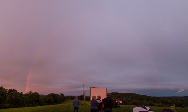 Double Rainbow over Wagman Movie Night - By Nate Brandt