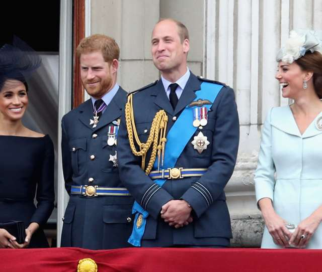 London England July  L R Meghan Duchess Of Sussex Prince Harry Duke Of Sussex Prince William Duke Of Cambridge And Catherine Duchess Of