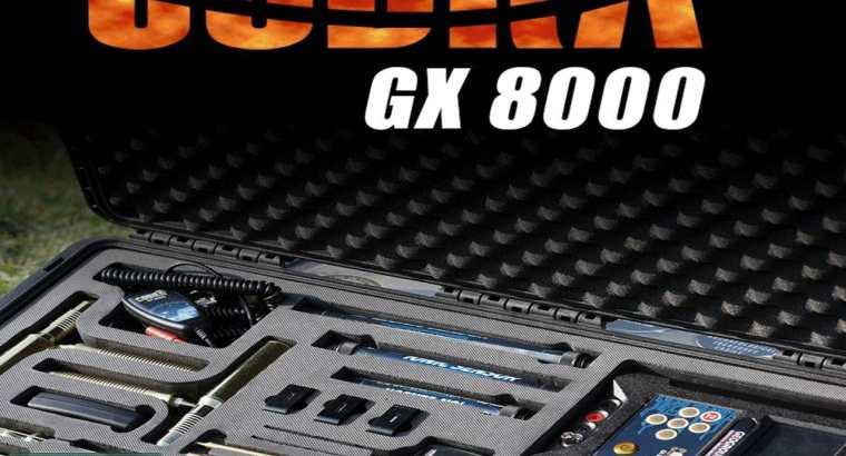 NEW METAL DETECTOR 2020 – COBRA GX 8000