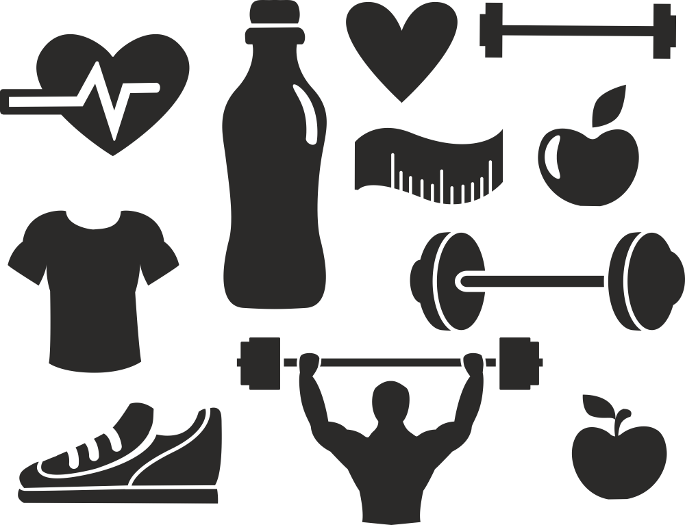 Fitness Vector Set Free Vector Cdr Download 3axis Co