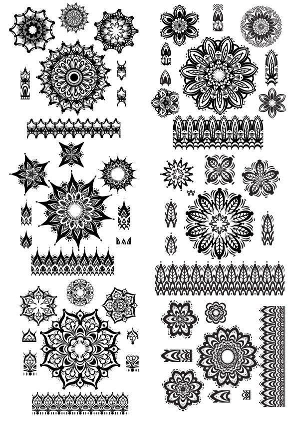 Ornament Islamic Vector Cdr : ornament, islamic, vector, Mandala, Ornament, Vector, Download, 3axis.co